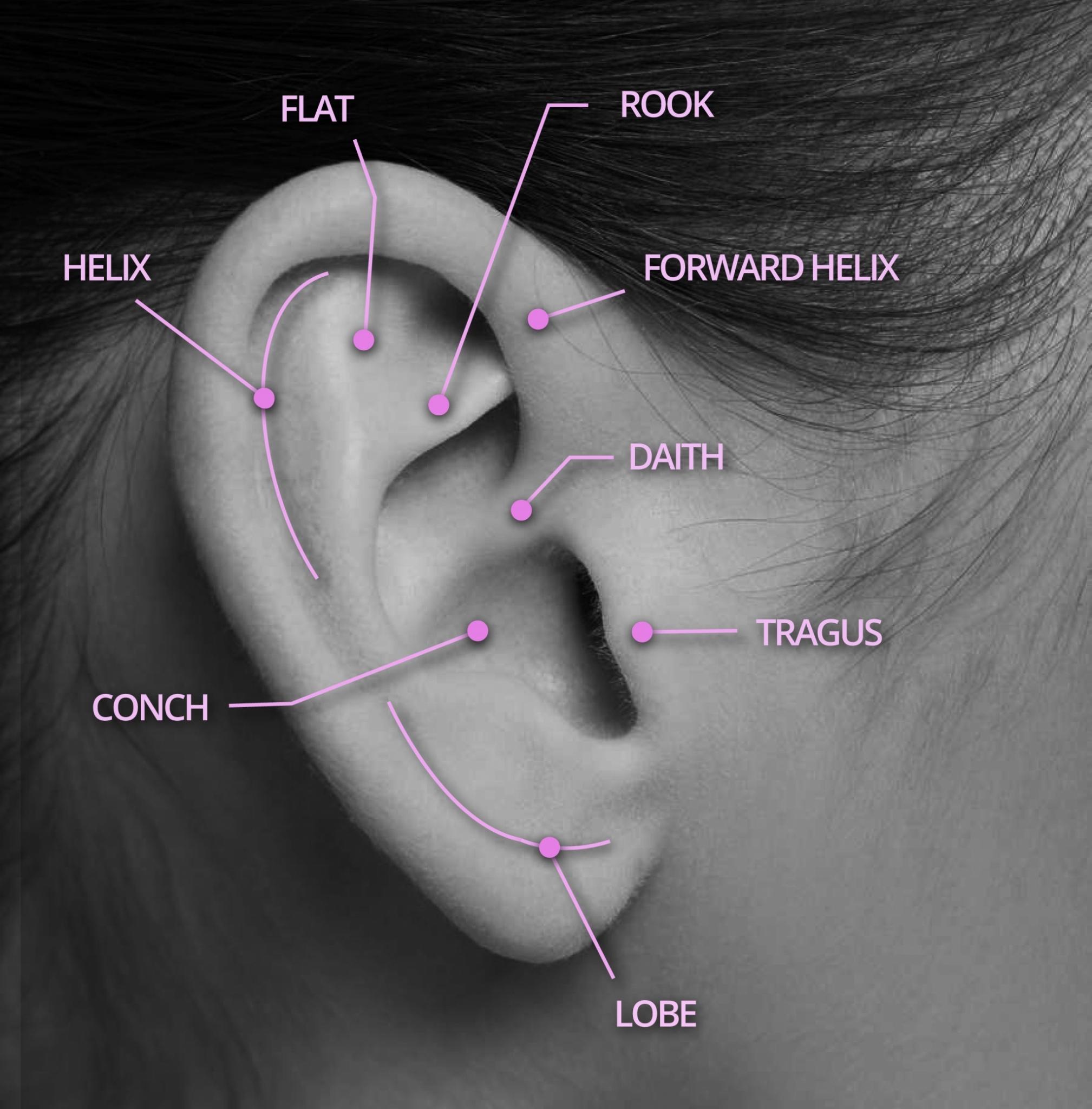 Ear Piercing Locations