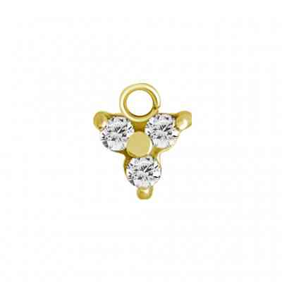 TRINITY CHARM FOR CLICKER RING GOLD PVD