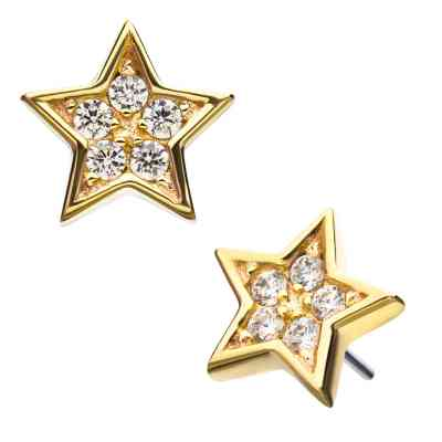 CLEAR SOLID STAR GOLD
