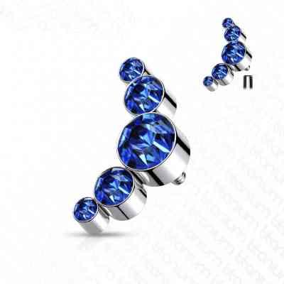 BLUE CRYSTAL CLUSTER TITANIUM